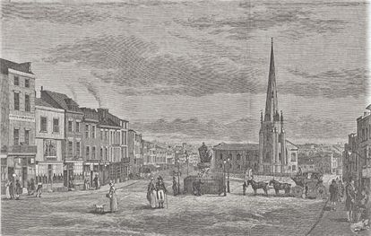 Image: Bull Ring 1812 by Thomas Hollins