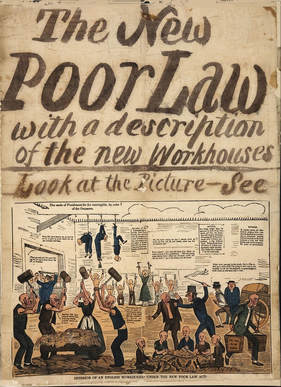 Image: Poster of the New Poor Law with a description of the Workhouse