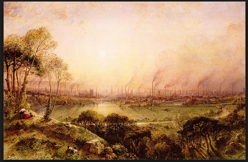 Image: Manchester from Kersal Moor, 1852