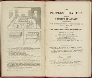 Image: The People's Charter published 1838